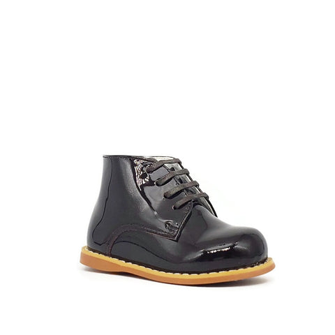 Classic Walkers - Dark Brown Patent - Tippy Tot Shoes