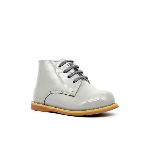 Classic Walkers - Smooth Grey Patent - Tippy Tot Shoes