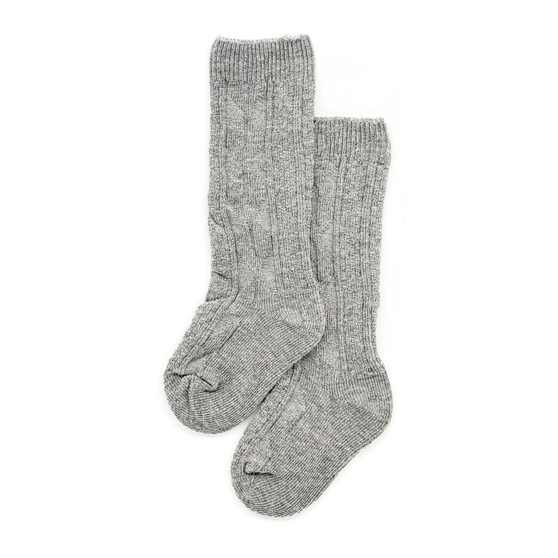 Unisex Cable Knit Socks - 1 pair Grey - Tippy Tot Shoes