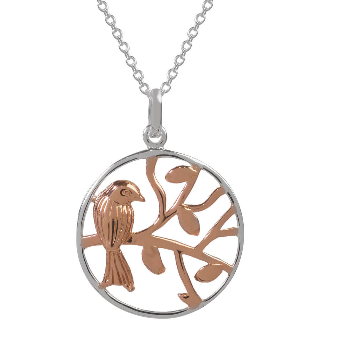 Sophie Oliver Valencia Bird In A Tree Necklace