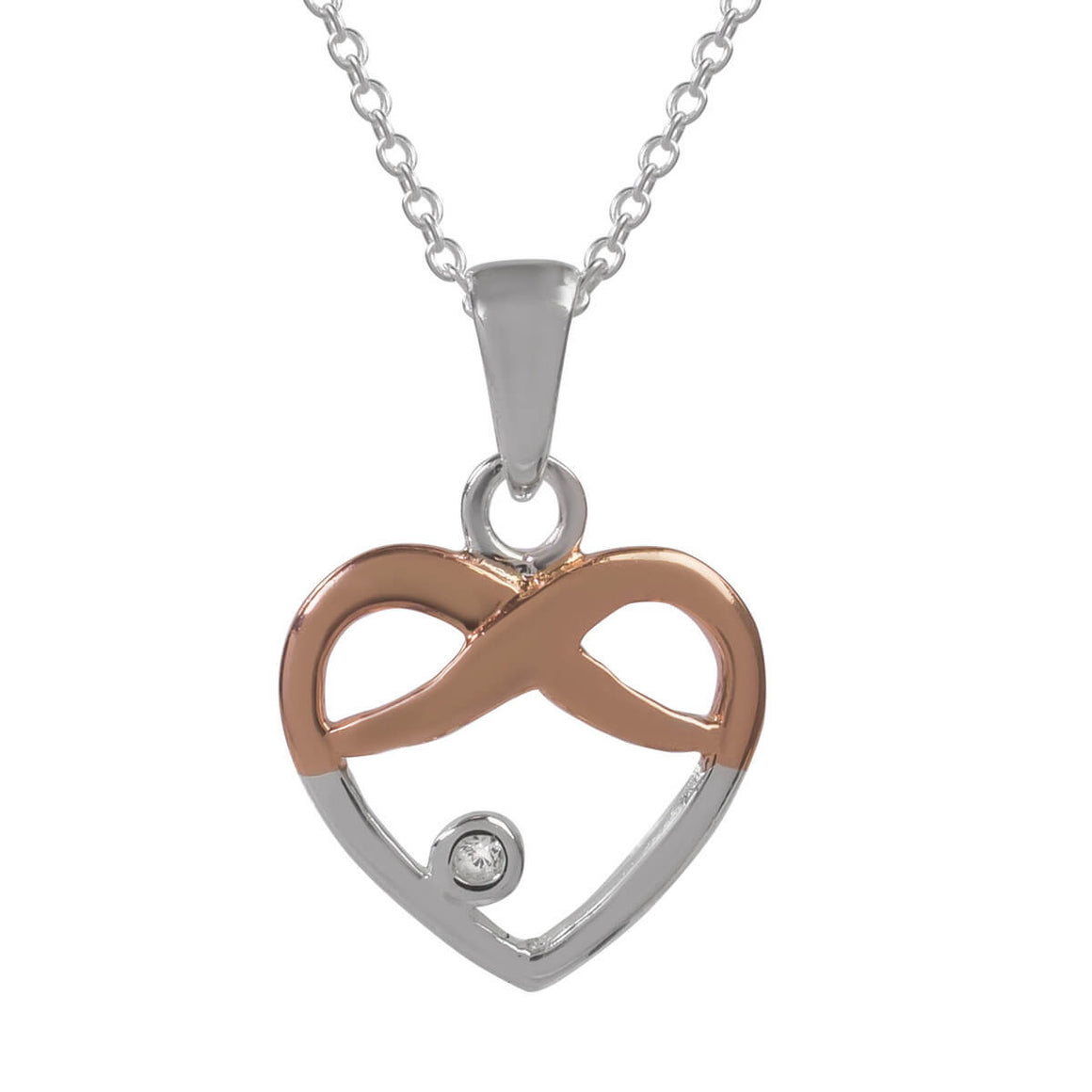 Sophie Oliver Valencia Infinity Love Heart Necklace