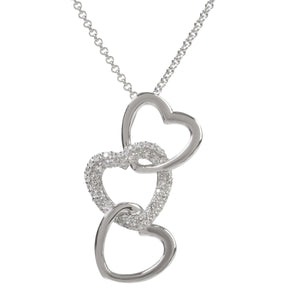 Sophie Oliver Luna Triple Heart Necklace