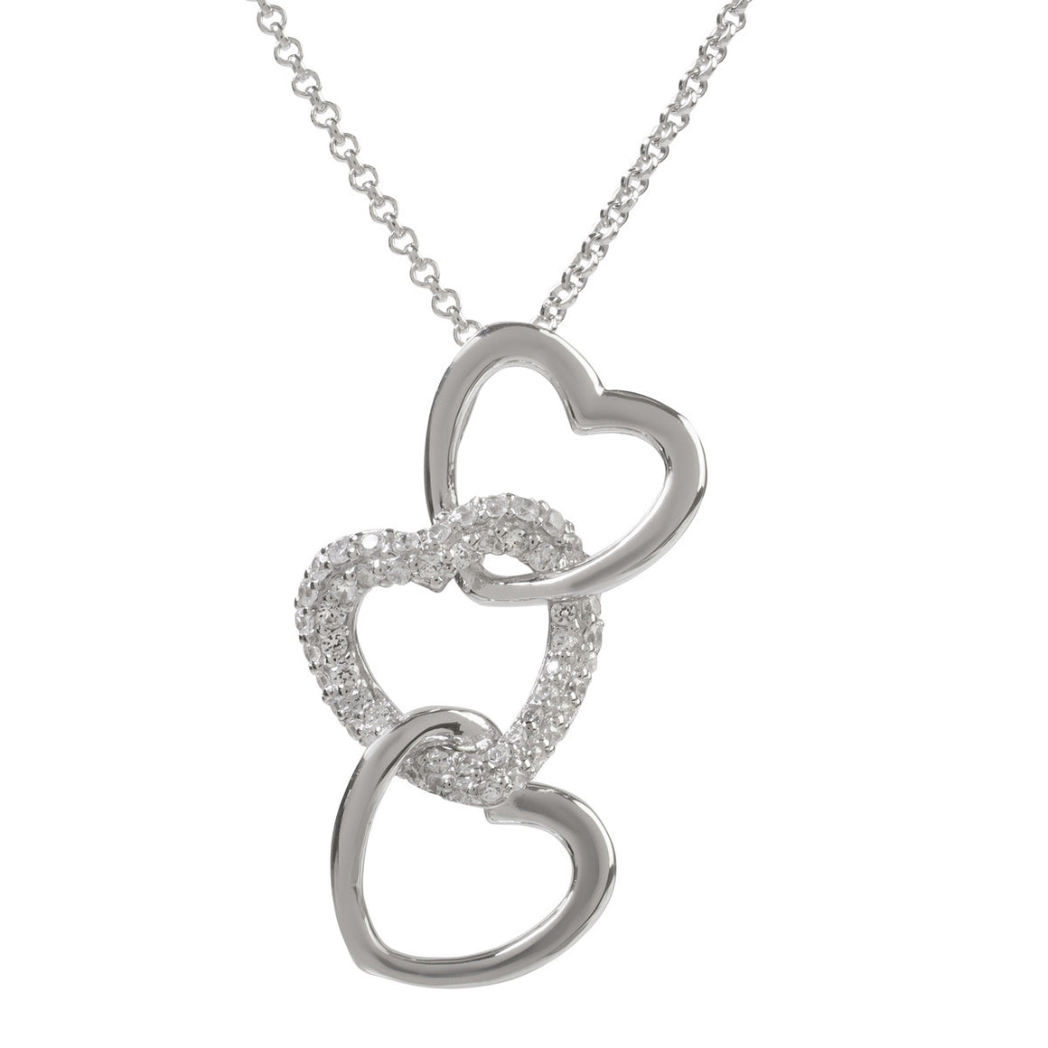 Sophie Oliver Luna Triple Heart Necklace - The Love Trees