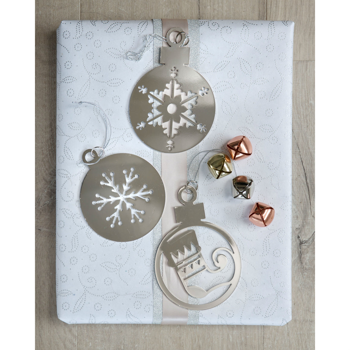 Set of 3 2D Bauble Decorations