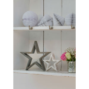 Set Of 2 Mantelpiece Stars