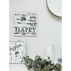 You Make Me Happy When Skies Are Grey Photo Sign - The Love Trees