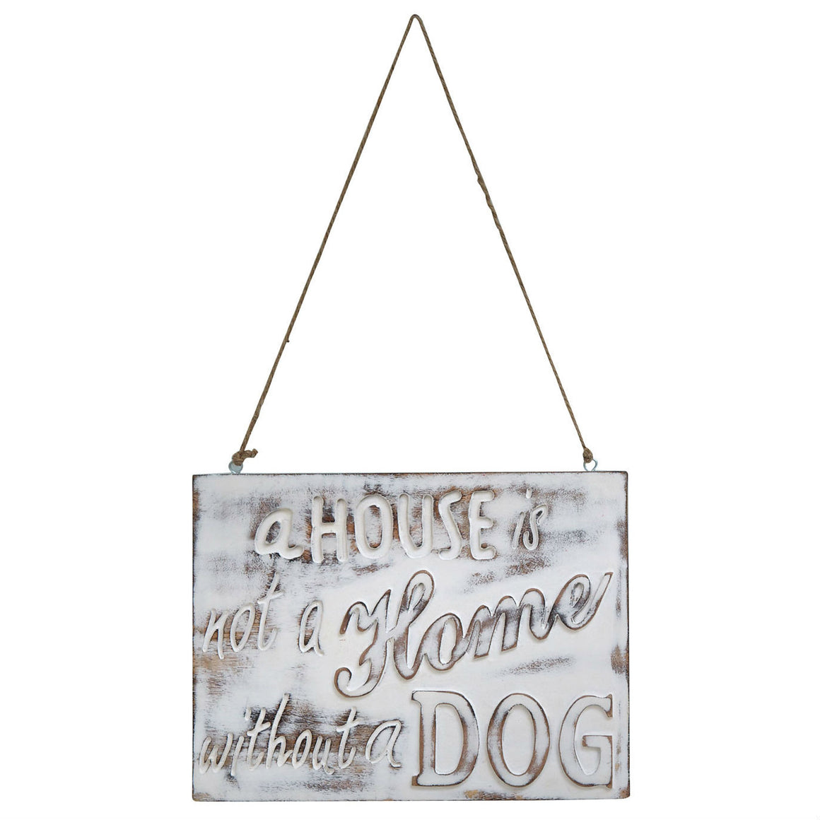 A House Is Not A Home Without A Dog Wooden Sign - The Love Trees