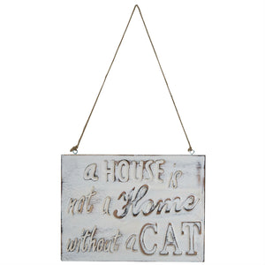 A House Is Not A Home Without A Cat Wooden Sign - The Love Trees