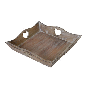 Set Of 3 Scalloped Wooden Trays - The Love Trees