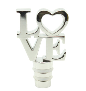 Romantic Silver LOVE Bottle Stopper