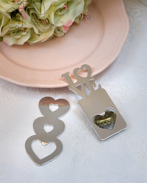 Romantic Love Or Triple Heart Bottle Opener