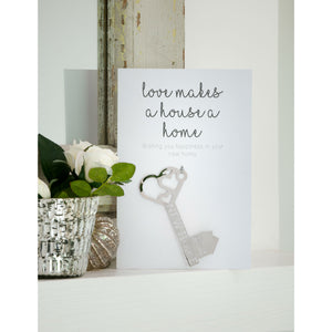 Love Makes A Happy Home... Greetings Card and Keepsake