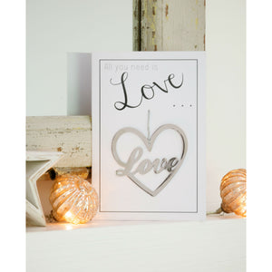 All You Need Is Love Greetings Card and Keepsake - The Love Trees
