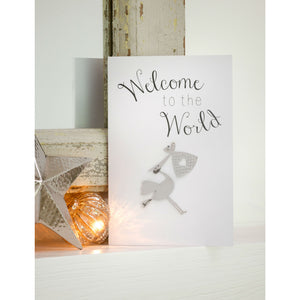 Welcome To The World Greetings Card and Keepsake - The Love Trees