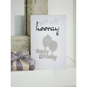 Hip Hip Hooray Happy Birthday Greetings Card and Keepsake - The Love Trees