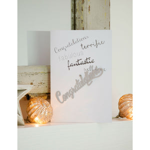 Contratulations... Greetings Card and Keepsake - The Love Trees