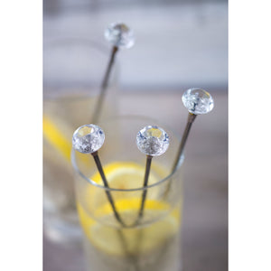 Set Of 4 Diamond Cocktail Stirrers - The Love Trees