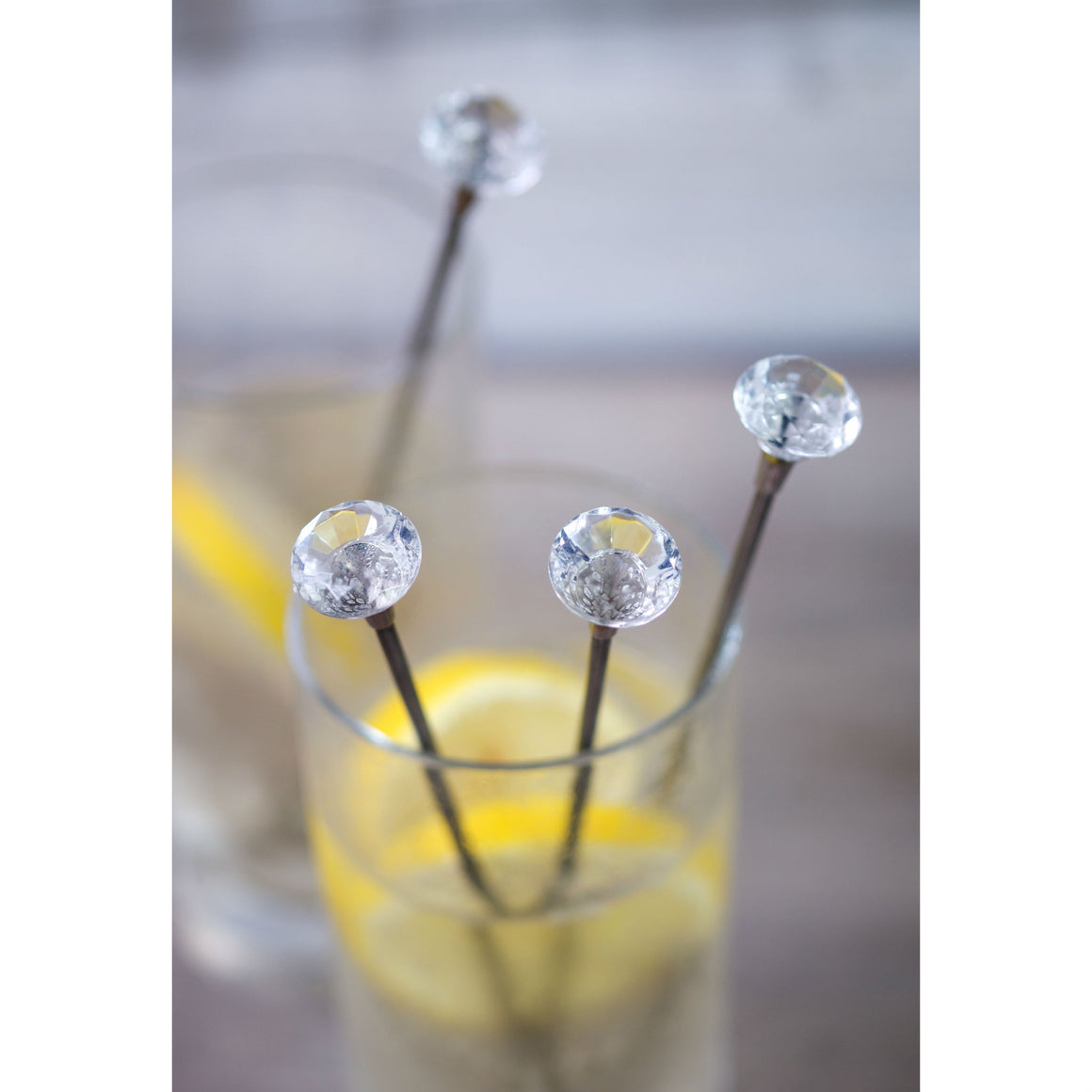 Set Of 4 Diamond Cocktail Stirrers