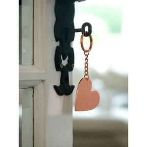 Rose Gold Romantic Keyring LOVE or Heart Design