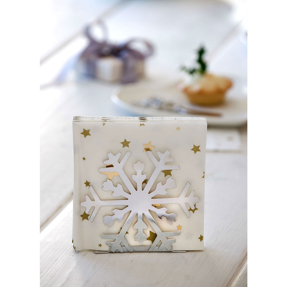 Snowflake Paper Napkin Holder - The Love Trees