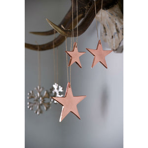 Set Of 3 Rose Gold Cast Stars
