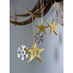 Set Of 3 Gold Cast Stars