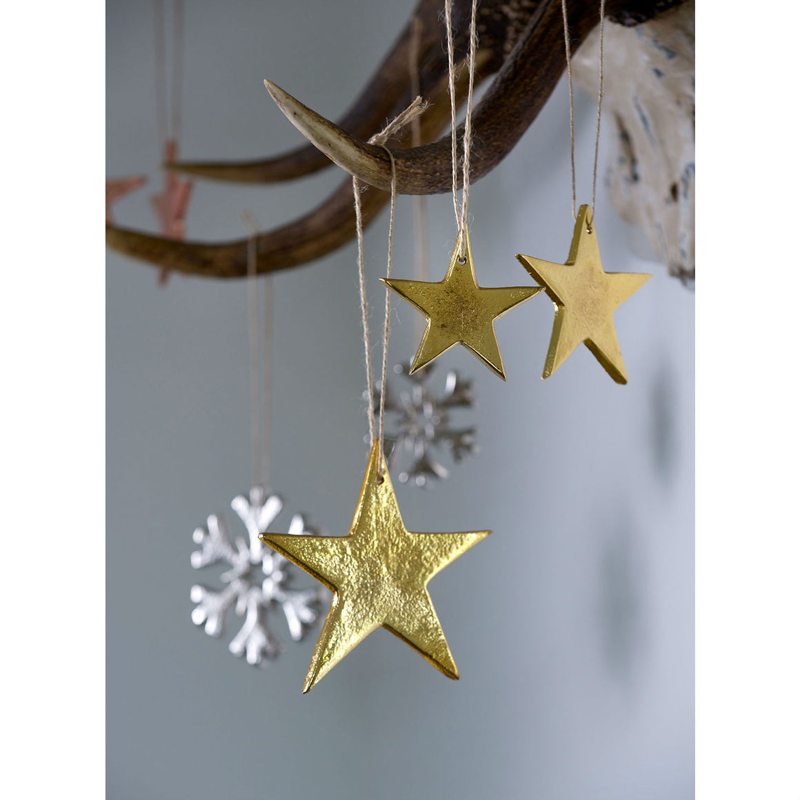 Set Of 3 Gold Cast Stars - The Love Trees