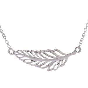 Sophie Oliver Barcelona Silver Feather Necklace