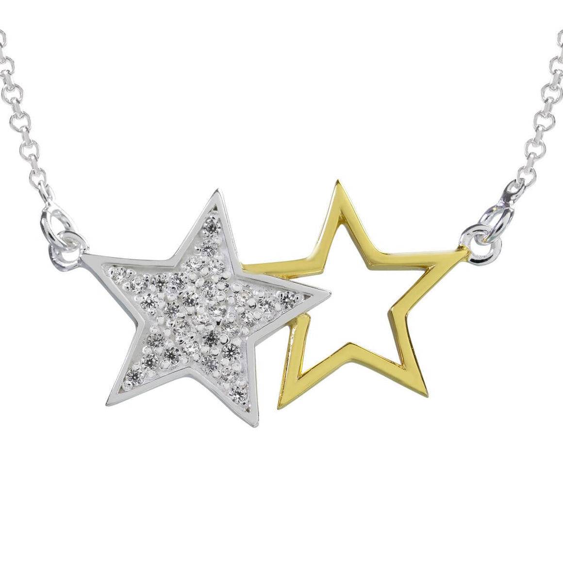 Sophie Oliver Valencia Double Star Necklace - The Love Trees