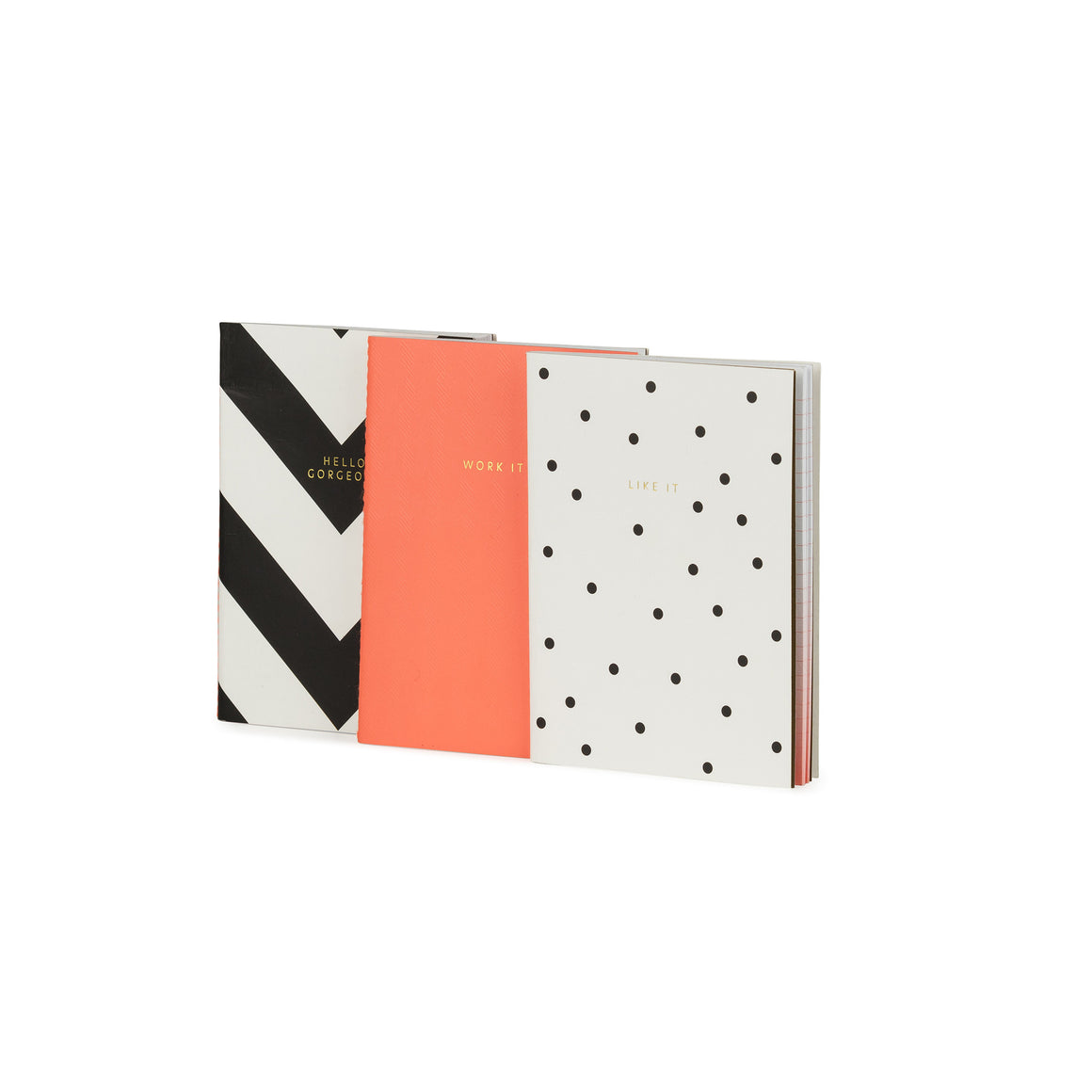 Hello Gorgeous, Work It & Like It Set Of A6 Notebooks - The Love Trees