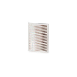 Perforated White And Copper Grid A6 Notebook - The Love Trees
