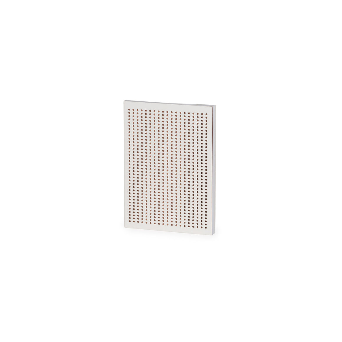 Perforated White And Copper Grid A6 Notebook
