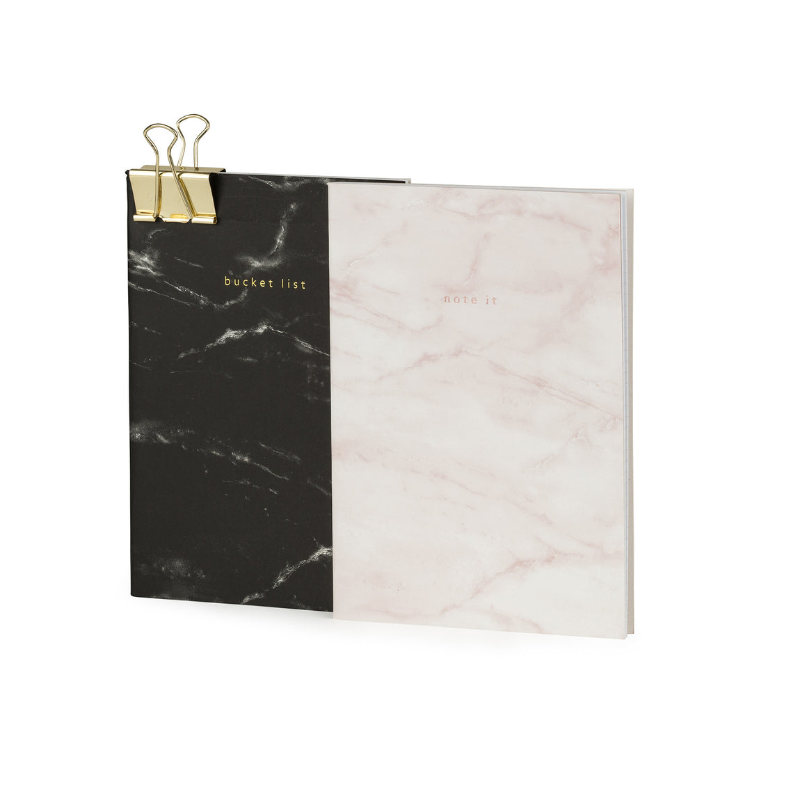 Bucket List & Note It Set Of A5 Marble Print Notebooks - The Love Trees