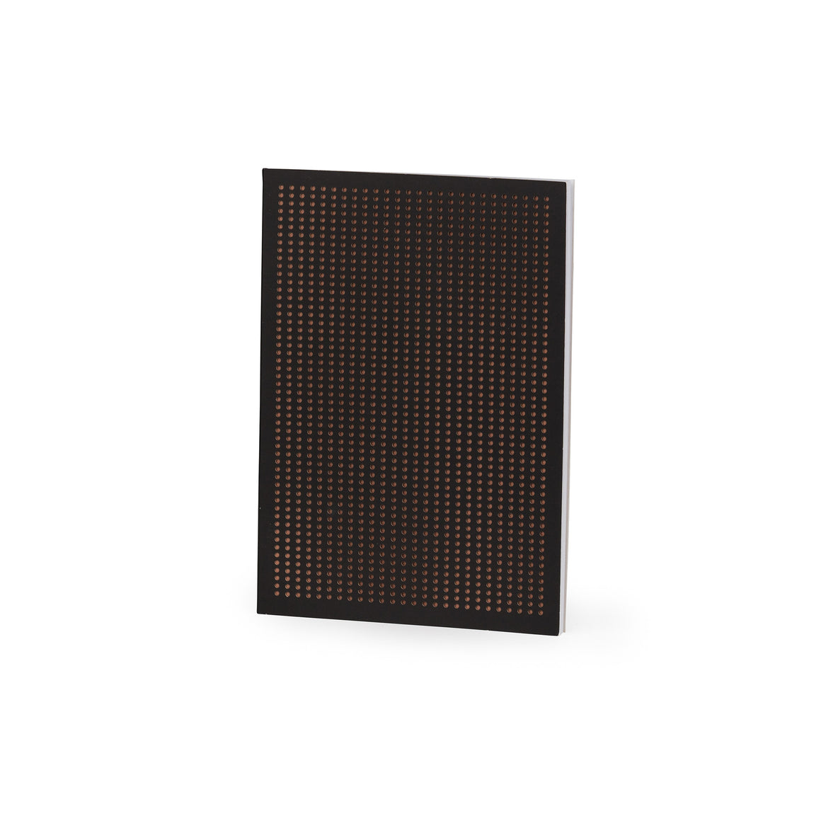 Perforated Black And Copper Grid A5 Notebook - The Love Trees