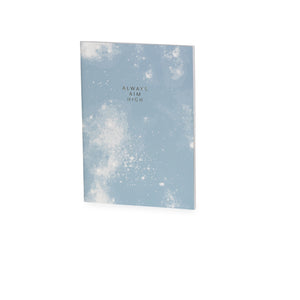Always Aim High Blue & White Print A5 Jotter - The Love Trees
