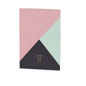 Just Do It Graphic Print A4 Notebook - The Love Trees