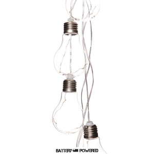 LED Light Bulb Garland Clear (10)