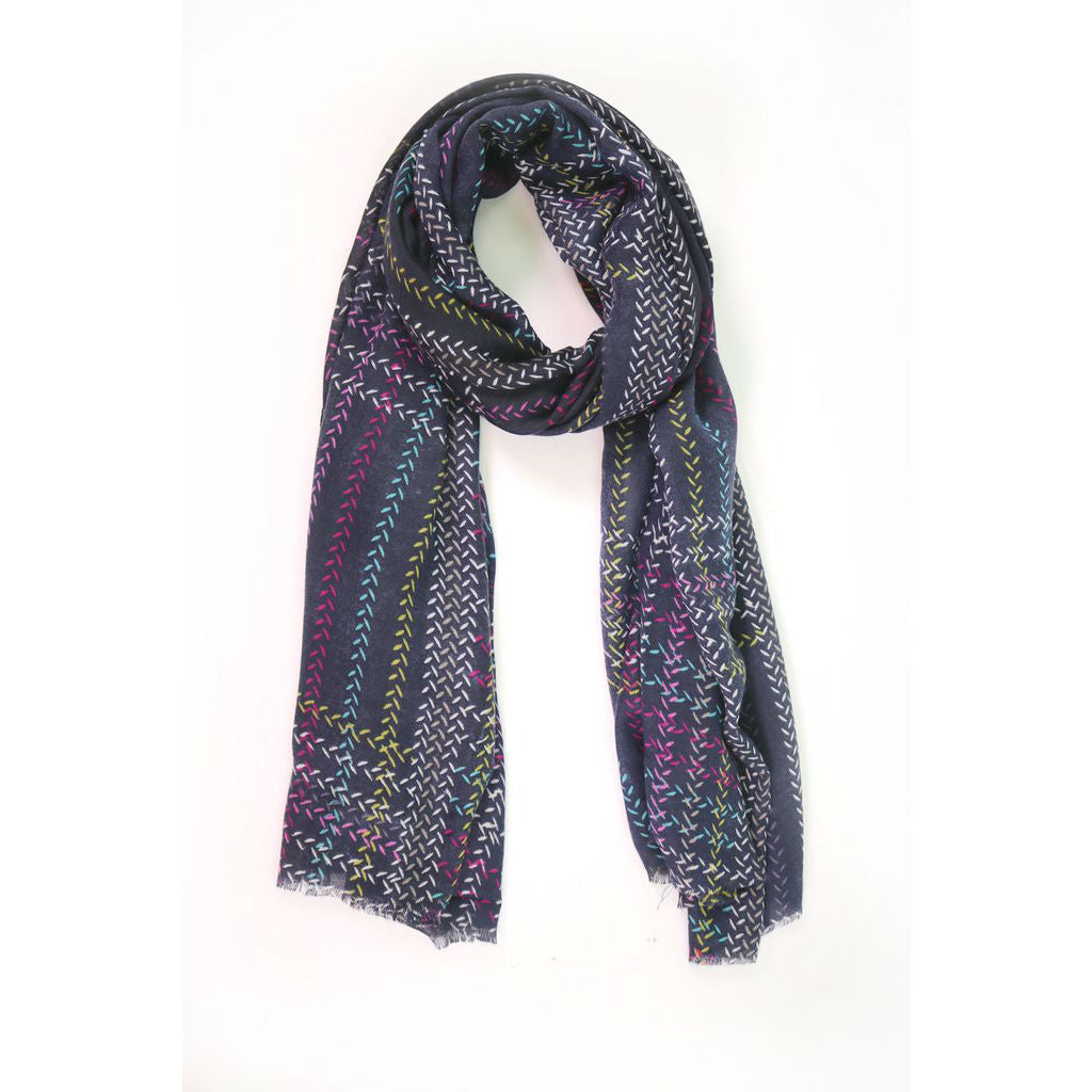 Multi Colour Print Scarf - The Love Trees