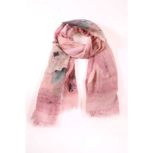 Water Colour Floral Design Scarf