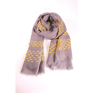 Grey Scarf With Mustard Dots - The Love Trees