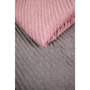 Grey & Dusty Pink Pleated Scarf - The Love Trees