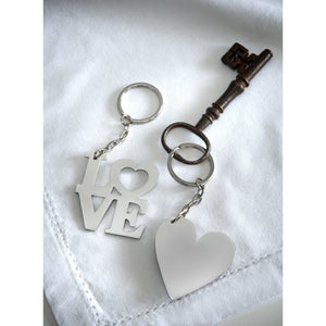 Romantic Keyring LOVE or Heart Design - The Love Trees