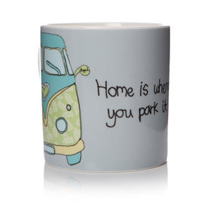 Home is Where You Park It - Camper Van Mug - The Love Trees