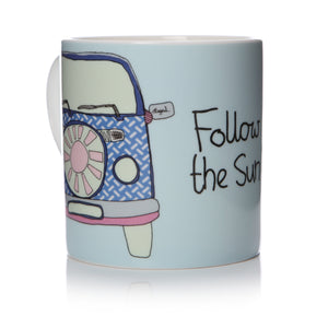Follow The Sun - Camper Van Mug - The Love Trees