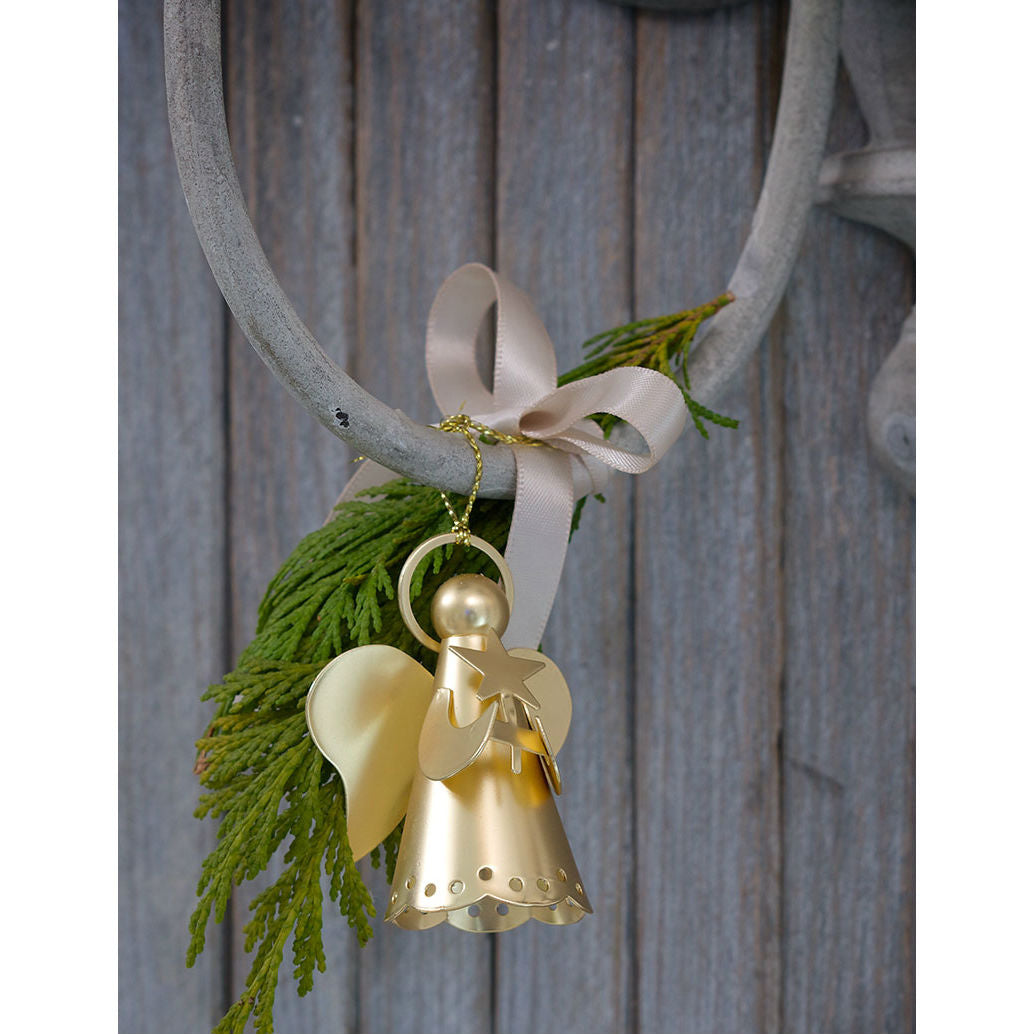 Matt Gold Angel Christmas Decoration