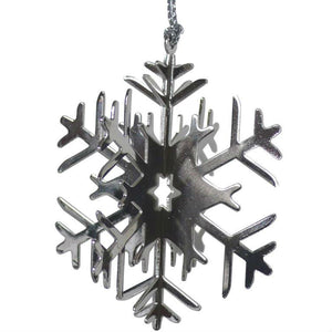 Set Of 4 3D Snowflake Christmas Decorations - The Love Trees