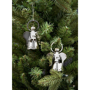 Silver Angel Christmas Decoration