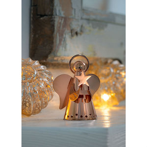 Rose Gold Angel Christmas Decoration - The Love Trees