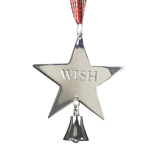 Wishing Star Christmas Decoration - The Love Trees