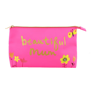 'Beautiful Mum' Cosmetic Bag - Paper Salad - The Love Trees
